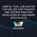 Useful tool JOB EDITOR for MD 365 for Finance and Operations was developed by Innoware specialists