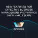 New features for effective business management in Dynamics 365 Finance (ERP)