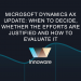 Microsoft Dynamics AX update: when to decide, whether the efforts are justified and how to evaluate it